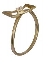 Δαχτυλίδι μονόπετρο χρυσό 14 καρατίων D016282 D016282