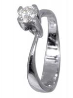 Μονόπετρο δαχτυλίδι Κ18 με διαμάντι D016472 D016472