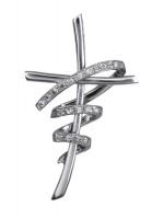 Ασημένιος γυναικείος σταυρός με ζιργκόν D016643 D016643