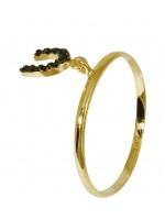 Δαχτυλίδι χρυσό με κρεμαστό καρδιά Κ14 D016686 D016686