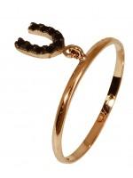 Δαχτυλίδι ροζ gold με κρεμαστό πέταλο Κ14 D016687 D016687