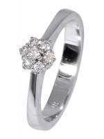 Λευκόχρυσο δαχτυλίδι Κ18 με διαμάντια D016936 D016936