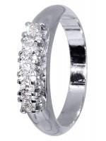 Λευκόχρυσο δαχτυλίδι Κ18 με μπριγιάν D017149 D017149
