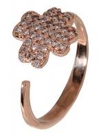 Δαχτυλίδι Ροζ Gold με σχήμα 14Κ D017349 D017349