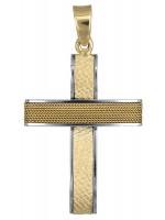 Ανδρικός δίχρωμος σταυρός με σύρμα Κ14 D017615 D017615