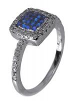Ασημένιο δίχρωμο δαχτυλίδι με ζιργκόν D017642 D017642