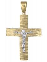Δίχρωμος ανάγλυφος σταυρός με τον Εσταυρωμένο Κ14 D017712 D017712