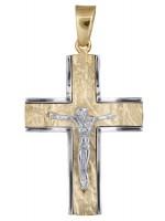 Αντρικός ανάγλυφος σταυρός με τον Εσταυρωμένο 14Κ D017853 D017853