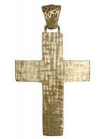 Χρυσός βαπτιστικός σταυρός 14Κ D018029 D018029