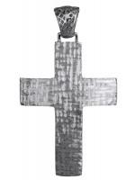 Λευκόχρυσος σταυρός βάπτισης 14Κ D018030 D018030