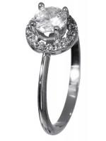 Δαχτυλίδι μονόπετρο λευκόχρυσο K14 D018113 D018113
