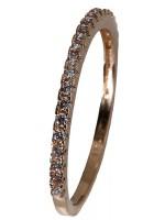 Δαχτυλίδι Ροζ gold σειρε 14Κ D018204 D018204