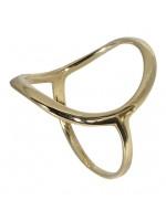 Μοντέρνο χρυσό δαχτυλίδι 9 καρατίων D018597 D018597