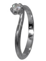 Μονόπετρο δαχτυλίδι Κ18 με διαμάντι D018359 D018359