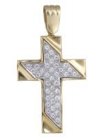 Γυναικείος σταυρός με πέτρες 9Κ D018816 D018816