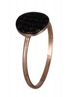 Δαχτυλίδι πετράτο ροζ χρυσό Κ14 με ζιργκόν D019114 D019114