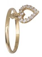 Χρυσό χειροποίητο Δαχτυλίδι 14κ με καρδούλα D019187 D019187