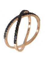 Ροζ χρυσό δαχτυλίδι 14K D019203 D019203