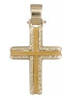 Βαφτιστικός ανδρικός σταυρός Κ14 D019290 D019290