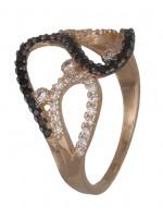 Χρυσό ροζ δαχτυλίδι με πετράτο 14K D019341 D019341