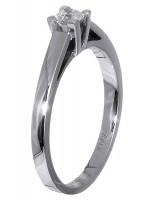 Μονόπετρο δαχτυλίδι Κ18 σε λευκό χρυσό με διαμάντι D019591 D019591