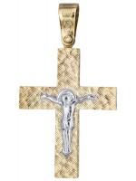 Δίχρωμος σταυρός με τον Εσταυρωμένο Κ14 D019690 D019690