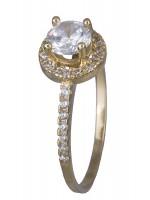 Μονόπετρο δαχτυλίδι χρυσό Κ14 D019788 D019788