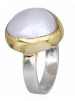 Χειροποίητο ασημένιο δαχτυλίδι με μαργαριτάρι 925 D020913 D020913