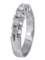 Σειρέ δαχτυλίδι λευκόχρυσο 18 Καρατίων με διαμάντια D021400 D021400