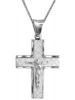 Λευκόχρυσος σταυρός με τον Εσταυρωμένο Κ14 D021598C D021598C
