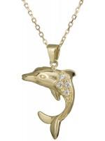 Χειροποίητο χρυσό κολιέ 14 Καρατίων με δελφίνι D021770 D021770