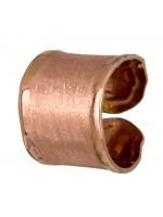 Ροζ επίχρυσο σεβαλιέ δαχτυλίδι από ασήμι 925 D021859 D021859