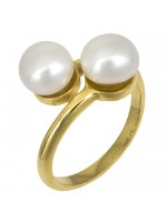 Επίχρυσο γυναικείο δαχτυλίδι με μαργαριτάρια D025237 D025237