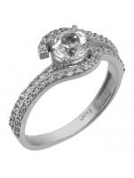Χειροποίητο λευκόχρυσο δαχτυλίδι swarovski Κ14 D025763 D025763