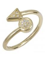 Γυναικείο δαχτυλίδι χρυσό Κ14 με ζιργκόν D026443 D026443