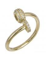 Γυναικείο δαχτυλίδι χρυσό Κ14 με ζιργκόν D026444 D026444