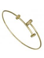 Γυναικεία χειροπέδα σε χρυσό Κ14 με ζιργκόν D026449 D026449