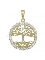 Κρεμαστό σε χρυσό Κ14 με το δέντρο της ζωής D028969 D028969