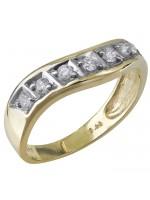 Χρυσό δαχτυλίδι Κ9 σε κυματιστό σχέδιο D029667 D029667