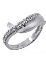 Λευκόχρυσο γυναικείο δαχτυλίδι Κ9 με ζιργκόν D029790 D029790