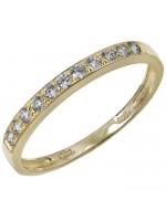 Χρυσό σειρέ δαχτυλίδι Κ14 με λευκές ζιργκόν D029816 D029816