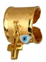 Δαχτυλίδι γυναικείο επιχρυσωμένο 925 D014885 D014885