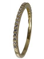 Δαχτυλίδι χρυσό σειρέ 14Κ D018203 D018203