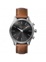 Kronaby Sweden Sekel Silver case Brown leather strap A1000-2749 A1000-2749