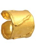 Επίχρυσο ασημένιο σεβαλιέ δαχτυλίδι 925 DASD218 DASD218