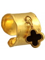 Σεβαλιέ επίχρυσο ασημένιο δαχτυλίδι 925 με σταυρό DASD317-2 DASD317-2