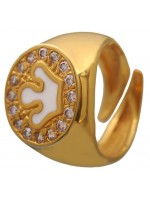 Επίχρυσο σεβαλιέ δαχτυλίδι 925 με λευκή κορώνα και ζιργκόν DASD428K DASD428K