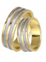 Δίχρωμες βέρες χρυσές / λευκόχρυσες Κ14 DBR0314D DBR0314D