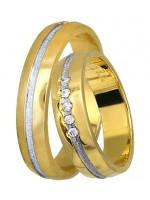 Οικονομική δίχρωμη βέρα γάμου 14Κ DBR0392 DBR0392