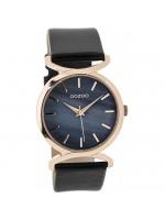 Γυναικείο ρολόι OOZOO Rose Gold Black Leather Strap C9529 C9529